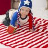 Free - Patriotic Stripes Blanket & Hat!