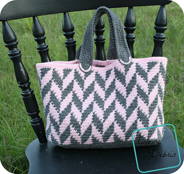 Chelsea Chevron Bag by Divine Debris