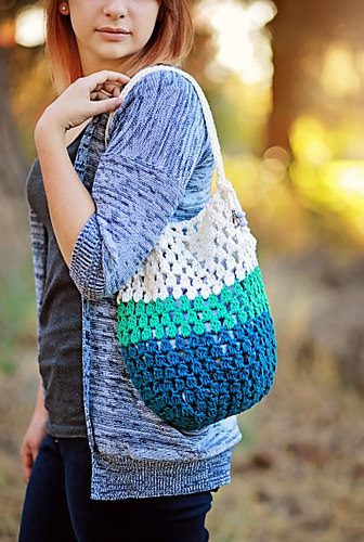 Frosted Tote Bag by Salena Baca Crochet